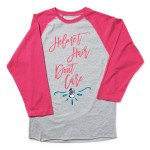 Women's - Helmet Hair Don't Care Baseball Tee