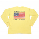 Start Strong Flag Long Sleeve Tee