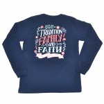 Women's- Tradition, Family & Faith Long Sleeve Tee